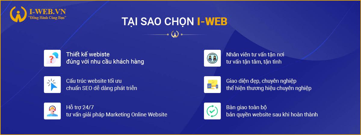 ưu điểm thiết kế web bán hàng tại iweb