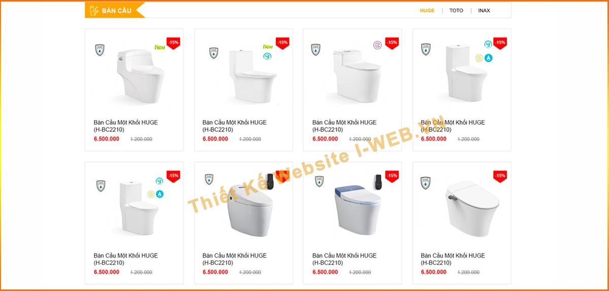 lợi ích thiết kế web thiết bị vệ sinh