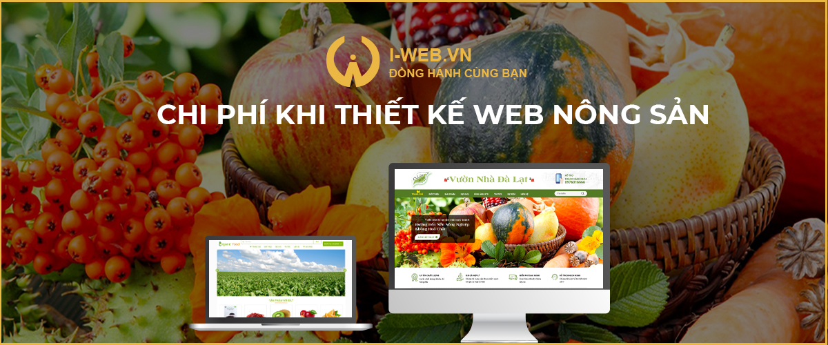 chi phí thiết kế web nông sản
