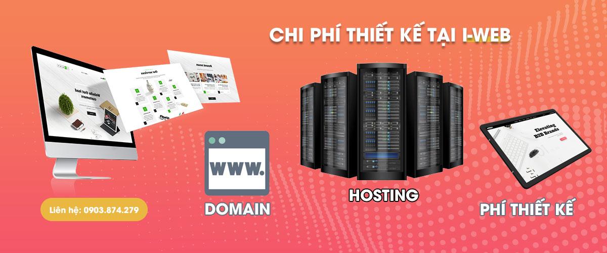 chi phí thiết kế web dịch vụ