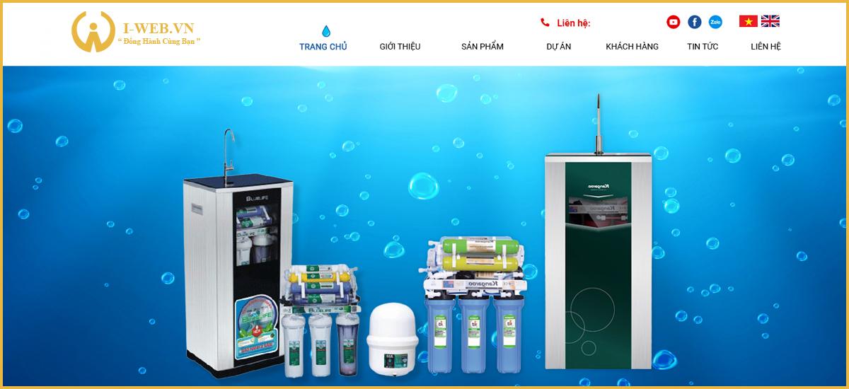 dịch vụ thiết kế web bán máy lọc nước
