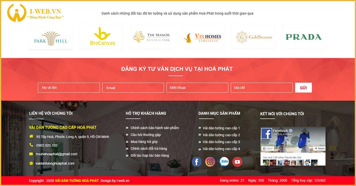 dịch vụ thiết kế web trang trí nội thất