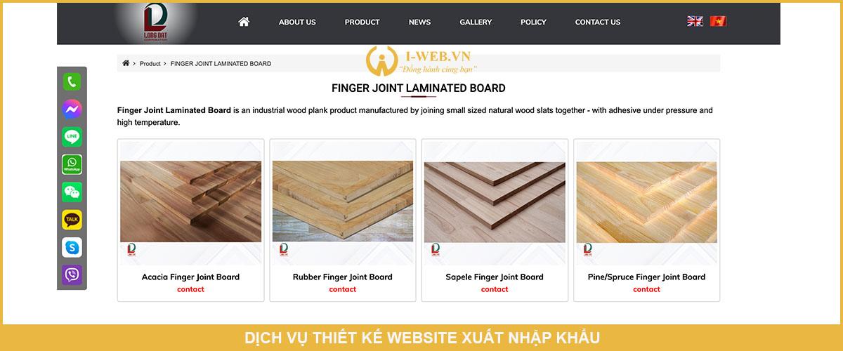 dịch vụ thiết kế web xuất nhập khẩu