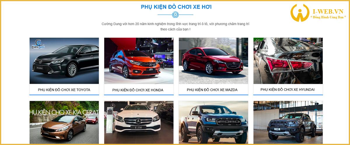 lưu ý khi thiết kế website đồ chơi xe hơi
