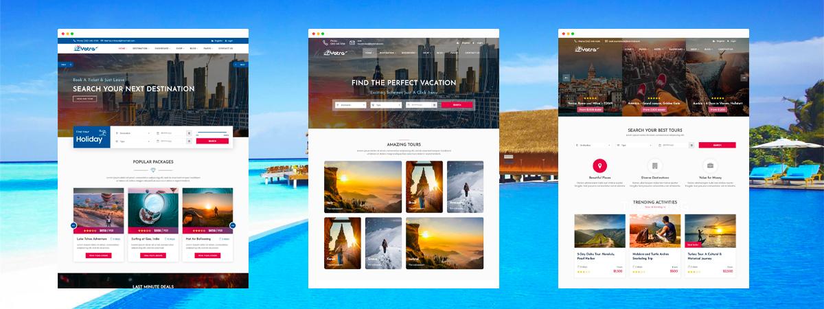 dịch vụ thiết kế web du lịch