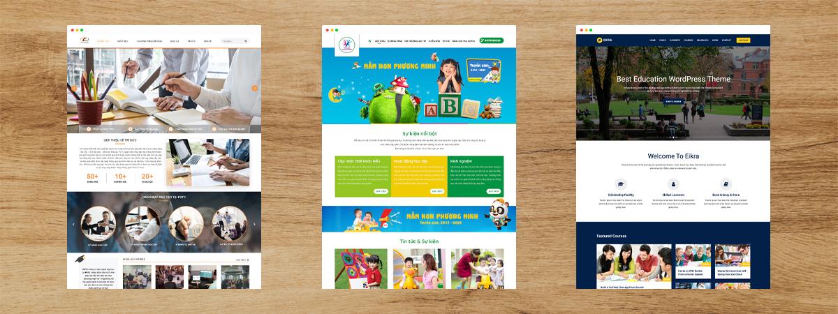 dịch vụ thiết kế web giáo dục đào tạo