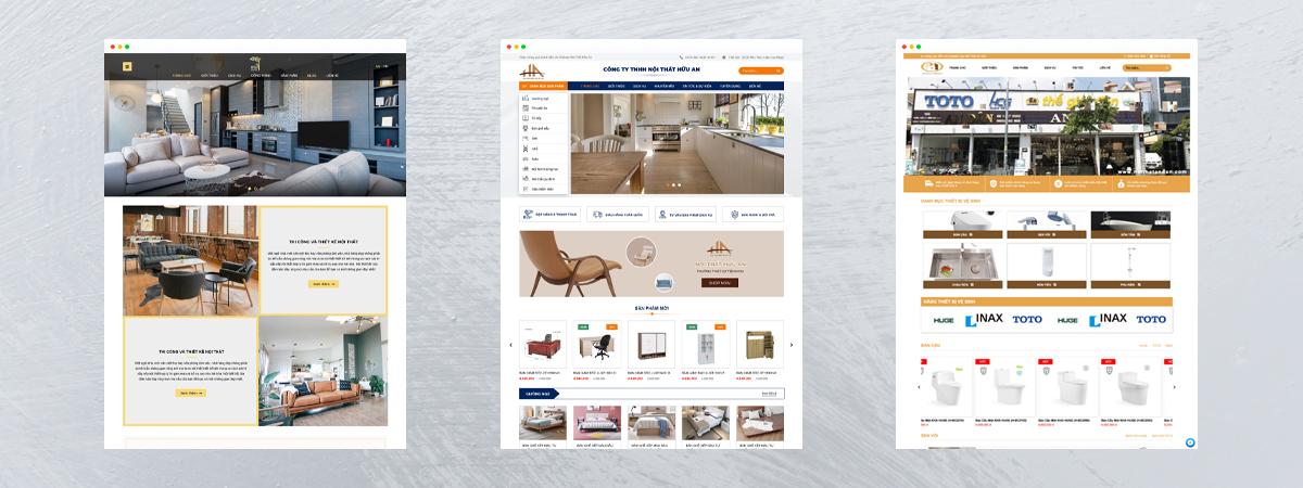 dịch vụ thiết kế web nội thất