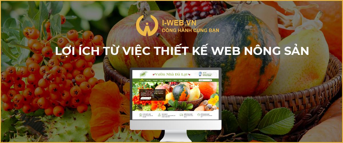 lợi ích từ việc thiết kế web bán nông sản