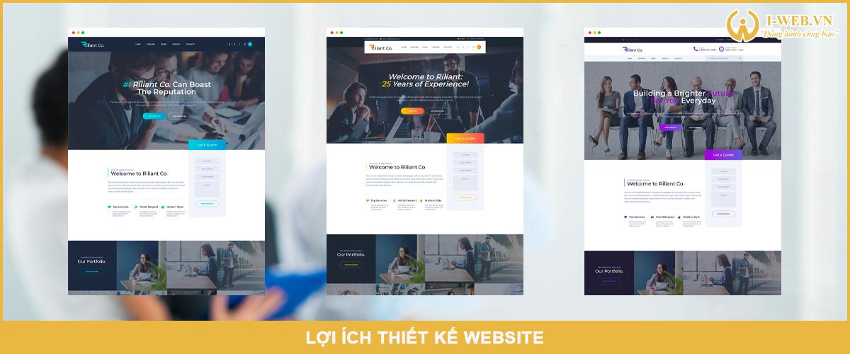 lợi ích thiết kế website
