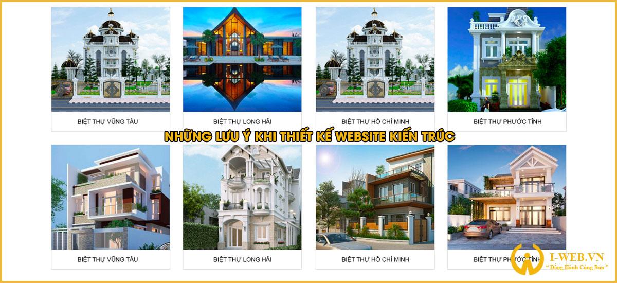 lưu ý khi thiết kế website kiến trúc
