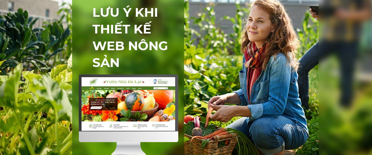 lưu ý khi thiết kế web nông sản