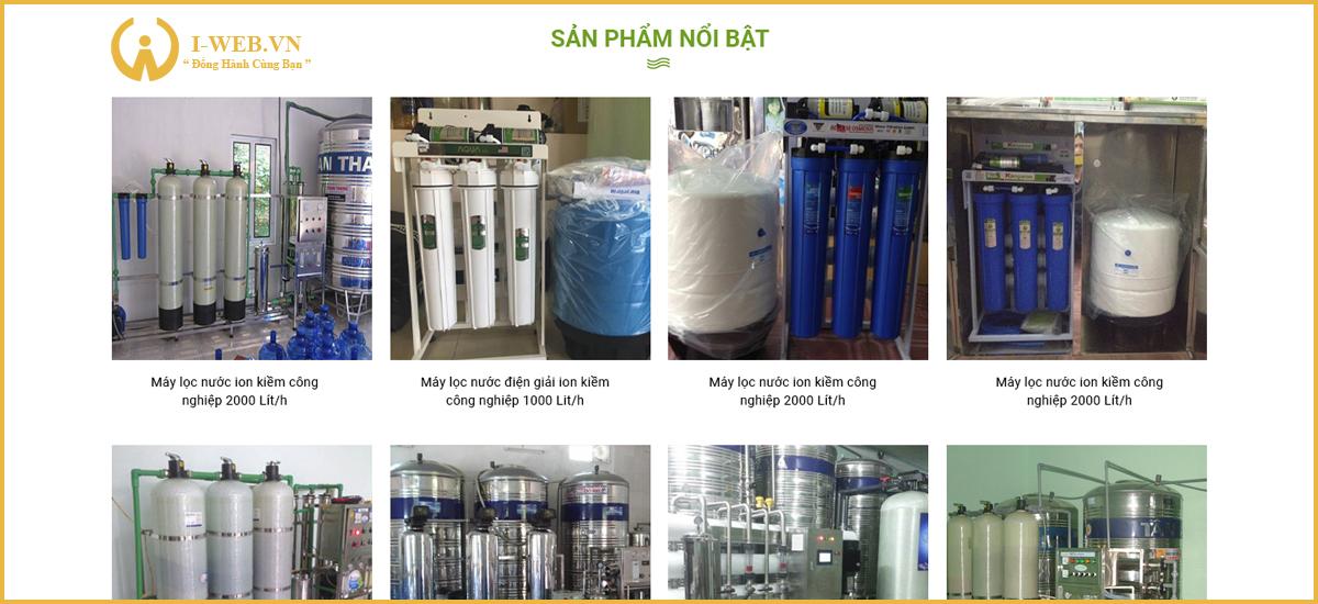 lưu ý thiết kế web bán máy lọc nước