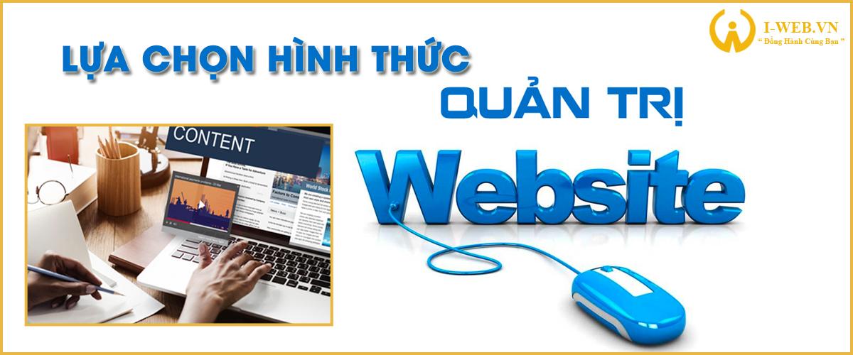 lựa chọn hình thức quản trị web