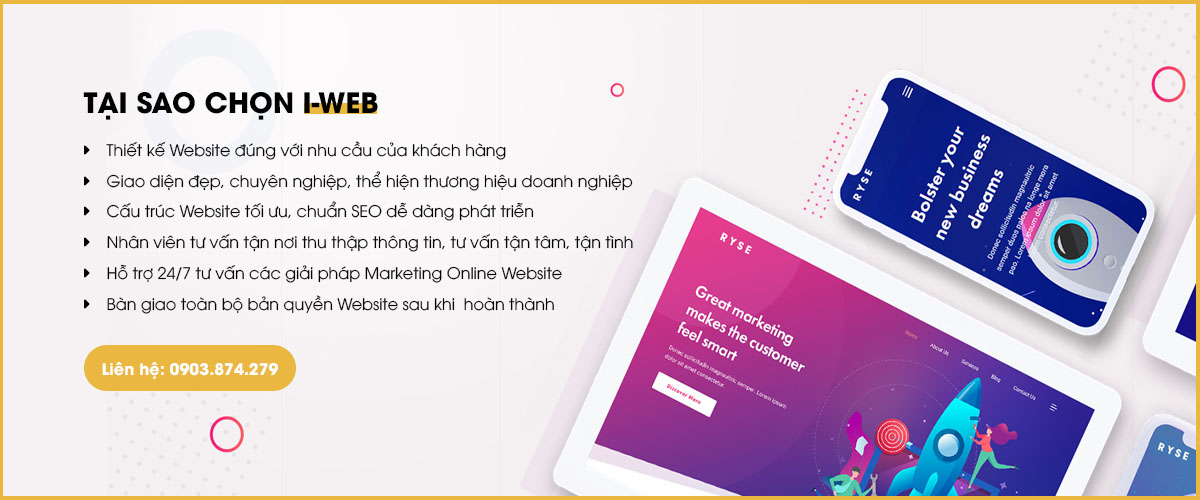 ưu điểm thiết kế web dịch vụ tại i-web