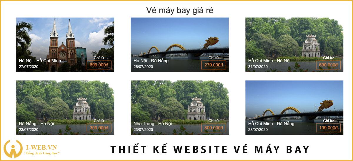 lưu ý khi thiết kế web vé máy bay