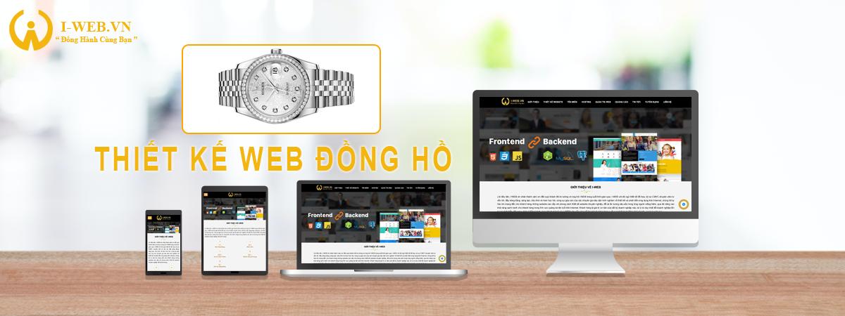 thiết kế web bán đồng hồ