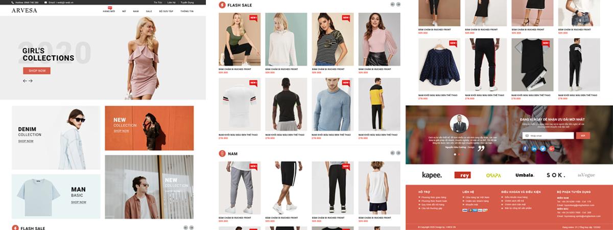giao diện web thời trang
