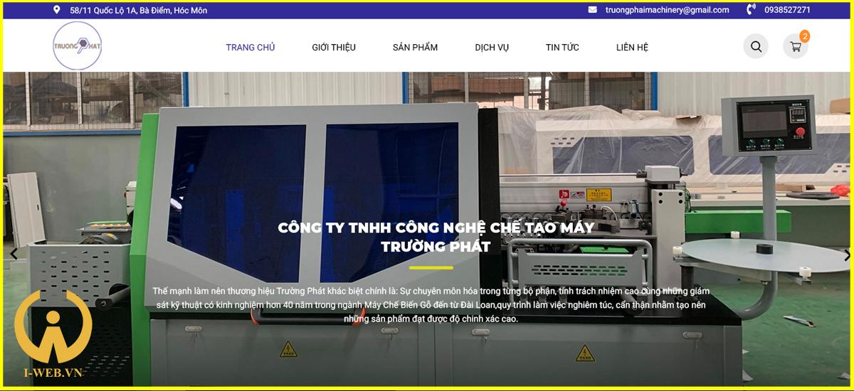 lưu ý thiết kế web cơ khí