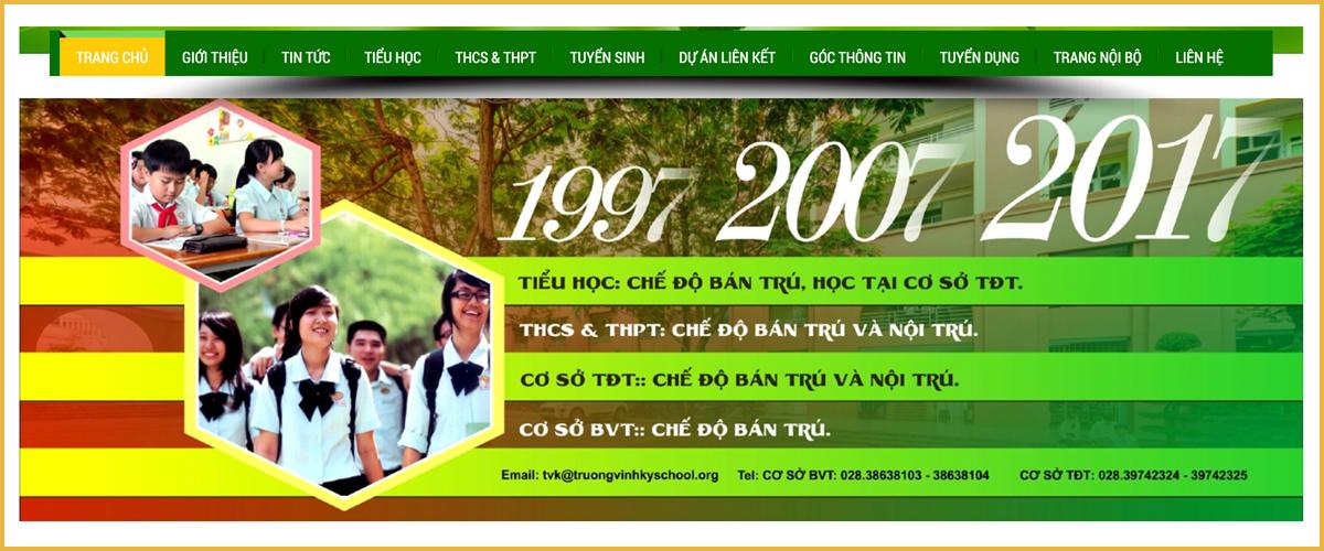 thiết kế web giáo dục đào tạo