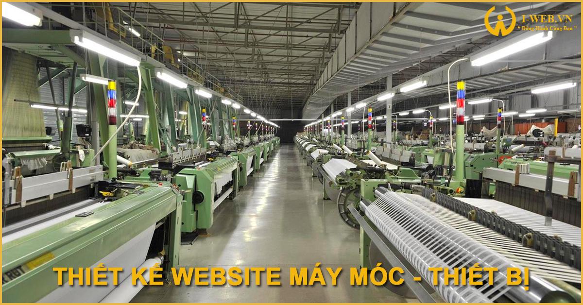 thiết kế web máy móc thiết bị