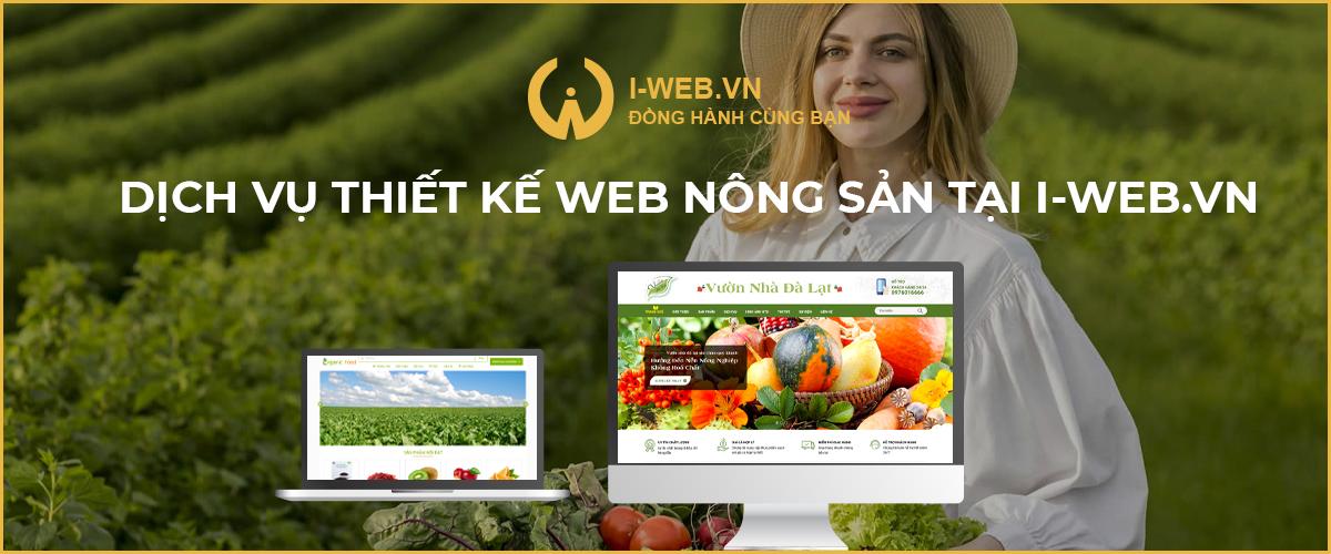 thiết kế web nông sản tại i-web