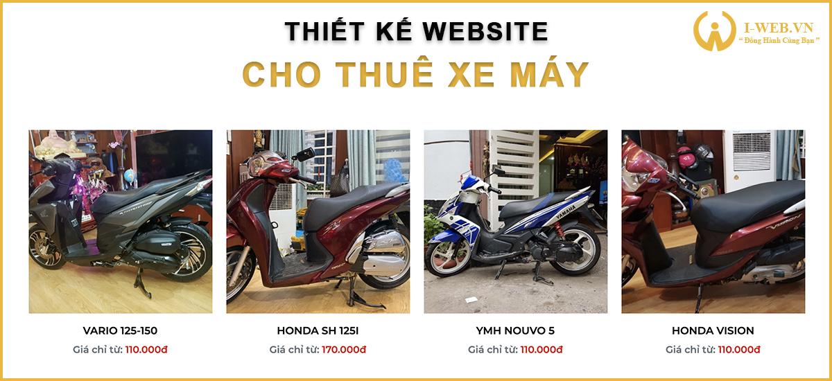 thiết kế web thuê xe máy