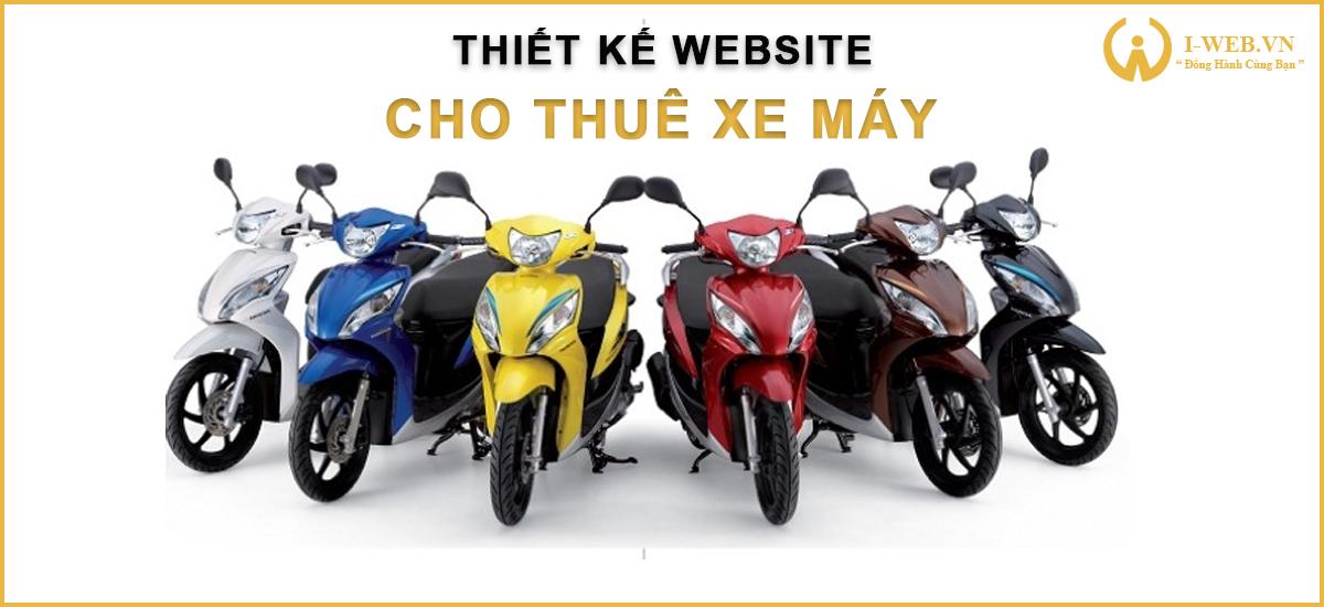 thiết kế website cho thuê xe máy